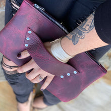 The Raleigh Leather Clutch - DEEP MAGENTA