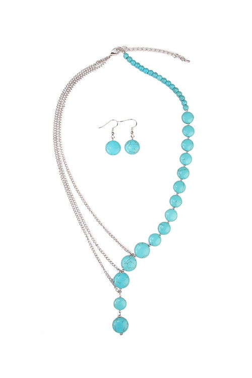 Turquoise Split Necklace and Earring Set