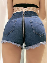 Zipper Back Shorts