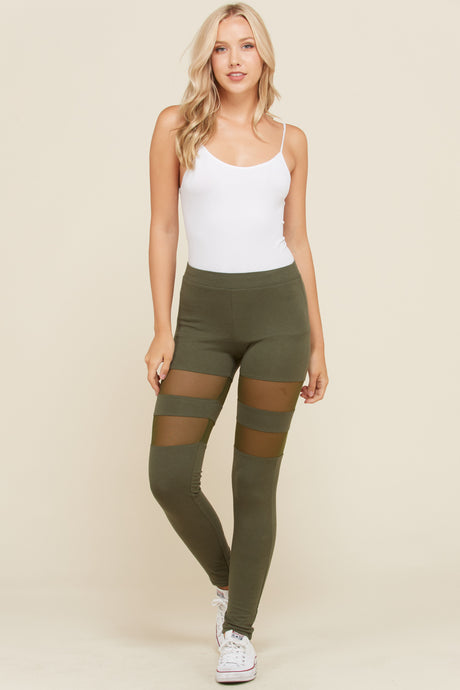 Leggings Mesh Thigh