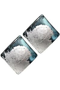 Metal Square Earrings
