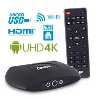 SMART TV BOX GHIA GAC-009/QUAD/1GB/8GB/LAN/WIFI/HDMI/AV/CR/SPDIF/NEGRO