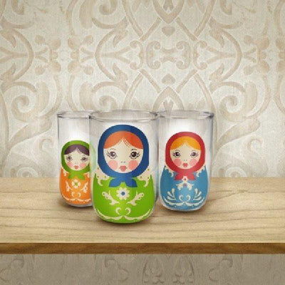 Fred - Babushkups Glass Set By Fred & Friends - Barware - mzube - FFBKUP