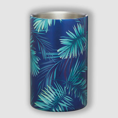 Barcraft - BarCraft Stainless Steel Tropical Leaves Wine Cooler - Barware - mzube - BCWCPALM