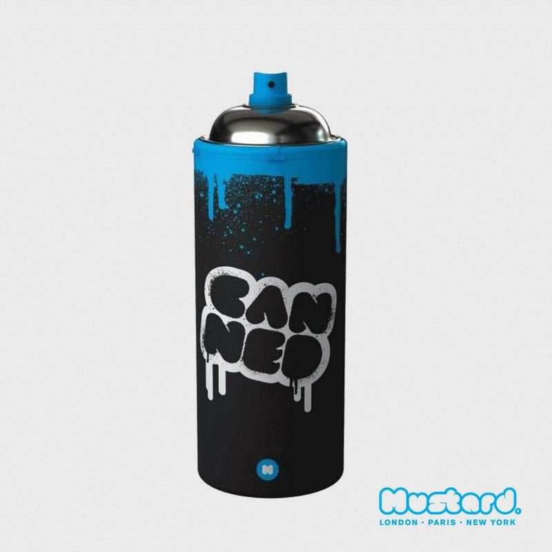 Mustard - Canned Aerosol Can Insulated Water Bottle - Travel Mug - mzube - NG5031