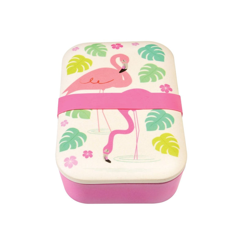Rex - Flamingo Bay Bamboo Lunch Box - Lunchbox - mzube - 27808