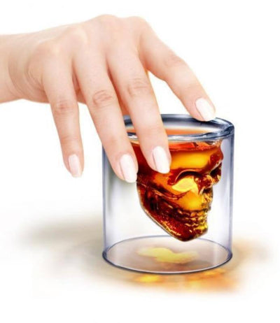 Fred - Fred Doomed Crystal Skull Shot Glass - Barware - mzube - FFDOOMED