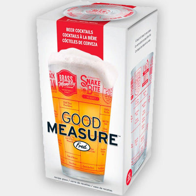 Fred - Fred Good Measure Beer Recipe Glass - Barware - mzube - FRED-GM-BEER