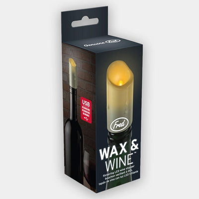 Fred - Fred Wax & Wine Flickering LED Wine Stopper - Barware - mzube - FRED-WWINE
