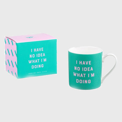 Yes Studio - I Have Know Idea Ceramic Mug - Yes Studio - Mugs - mzube - YST107
