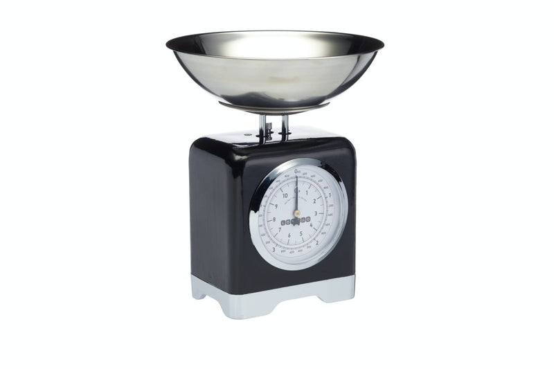 Kitchencraft - Kitchencraft Lovello Midnight Black Mechanical Food Scales - Cookware - mzube - LOVSCALESBLK