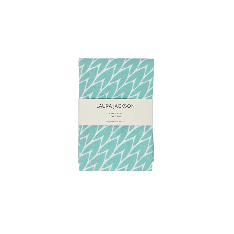 Laura Jackson - Laura Jackson Leaf Tea Towel / Mint - Kitchen Homeware - mzube - LTMI03