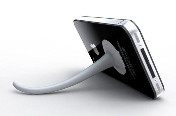 Mobile Tail - Mobile Tail - Cool Mobile Phone Stand - Office - mzube - MOBILETAILWHITE