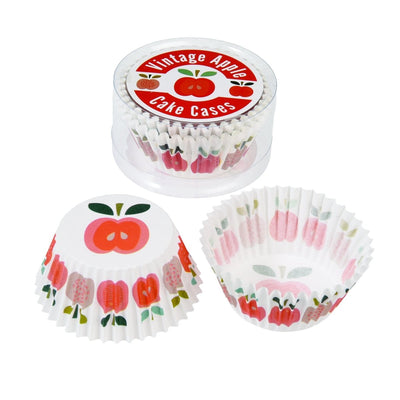 Set 50 Cupcake Cases Vintage Apple - mzube Cookware