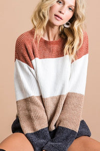 Color Block Soft Sweater