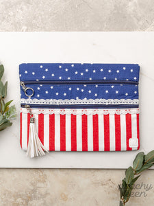 Sweet Land of Liberty Double Zipper Versi Bag
