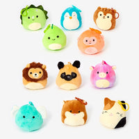 SQUISHMALLOWS 3.5 Inch Super Soft Mochi Squishy Plush Keychain Clip Set of 11 - Includes 11 Random Styles - No Duplicates