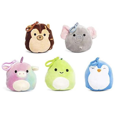 SQUISHMALLOWS 3.5 Inch Super Soft Mochi Squishy Plush Keychain Clip Set of 5 - Includes 5 Random Styles - No Duplicates