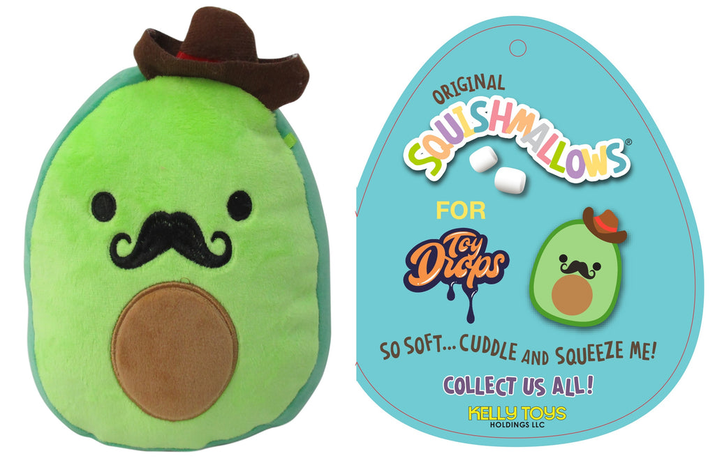 "Squishmallow 7"" Austin the Avocado Cowboy with Mustache - Super Soft Mochi Squishy Plush Toy – TOYDROPS Mexico Exclusive."