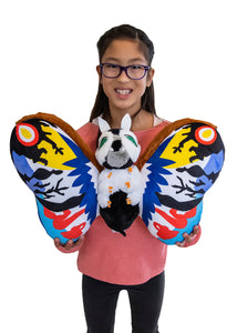 "Godzilla Rainbow Mothra Convention Exclusive 22"" Jumbo Plush by: Bandai Toho"