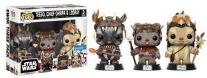 Funko Pop Star War 3-Pack with Teebo / Chief Chirpa & Logray Wal-mart Exclusive