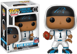 Funko POP NFL: Cam Newton (Panthers White) Collectible Figure