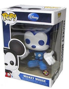 "Funko Pop Disney Mickey Mouse 9"" Vaulted Grail Dark Blue / Light Blue and White SDCC 2012 Exclusive - Only 480 Made ""NOT IN MINT CONDITION"" PACKAGE HAS SOME WEAR - NO RETURNS ALLOWED"
