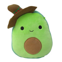 "Squishmallow 7"" Austin the Avocado Boy with Sombrero - Super Soft Mochi Squishy Plush Toy - TOYDROPS Mexico Exclusive"