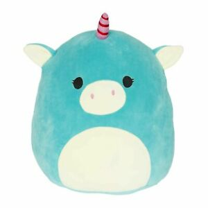 "Squishmallow 8"" Ace the Turquoise Unicorn - Super Soft Mochi Squishy Plush Toy"