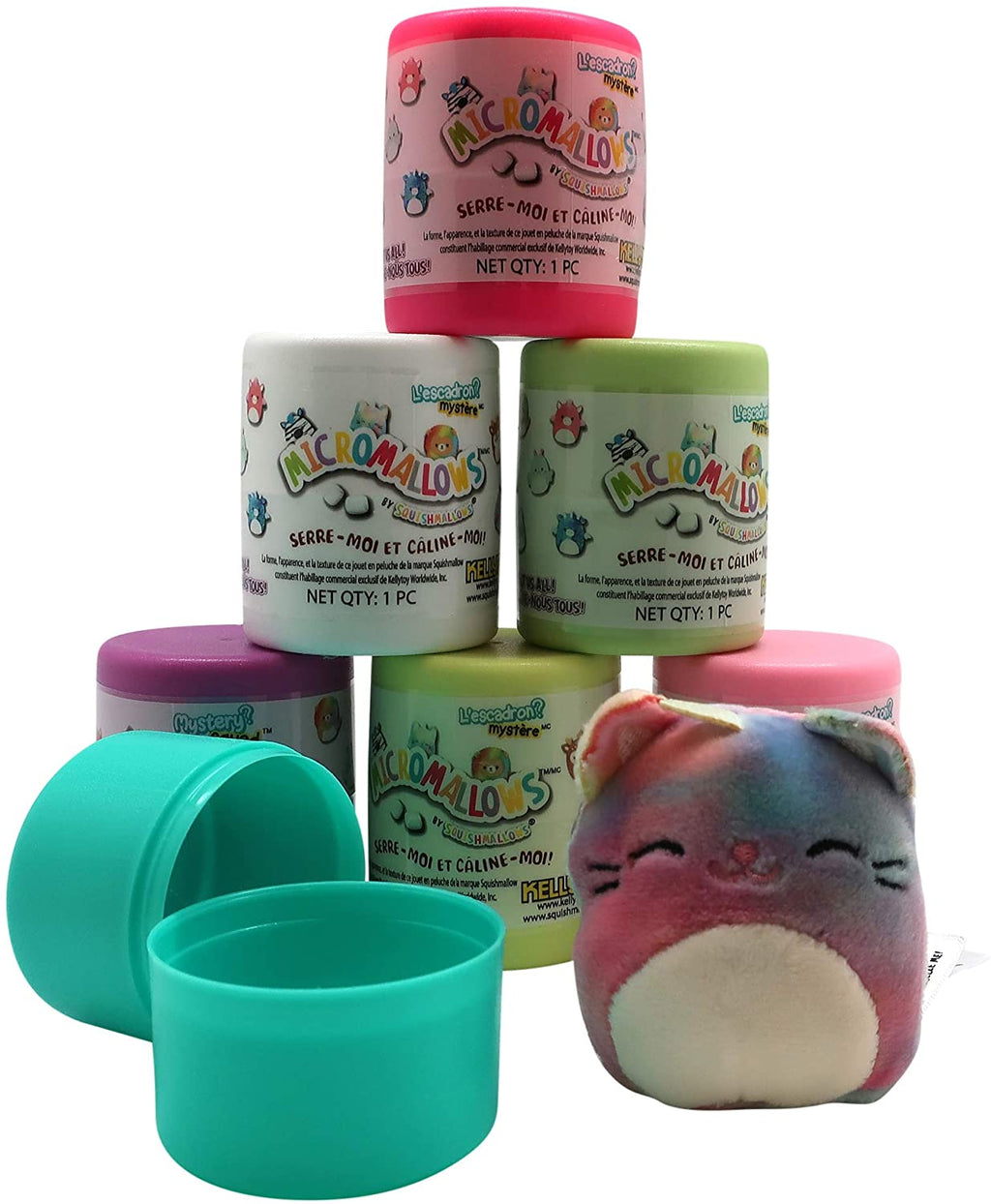 "Squishmallows Micromallows Toy Set of 3 - 2.5"" Squishy Mini Mystery Squad in Capsules, Assorted Colors & Designs"