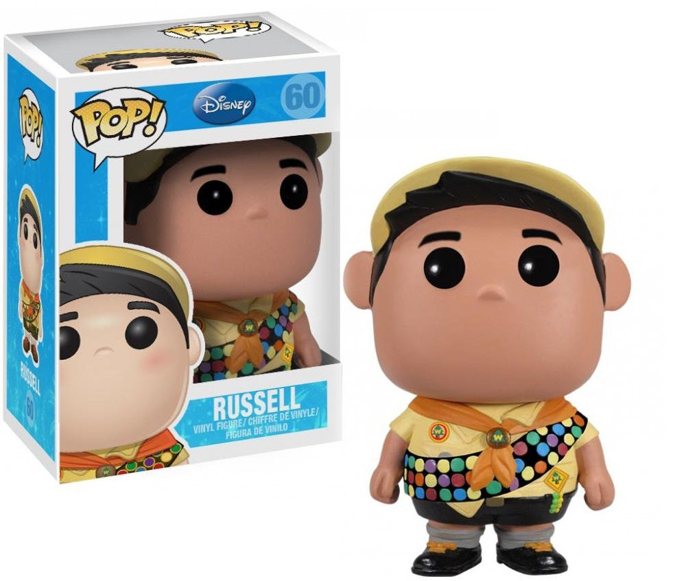 Funko Pop Disney's Pixar Up Russell with Disney Japan Sticker and upc on the bottom of packaging