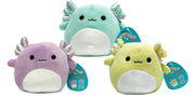 "Squishmallows 5"" Exclusive Easter Axolotl Set of 3 Includes - Anastasia , Monica & Treyton"