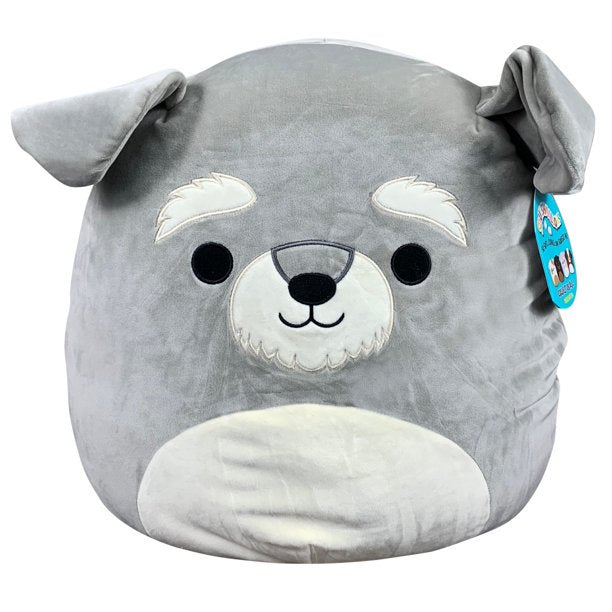 Squishmallow Kellytoy 12 Inch Shaun The Schnauzer - Super Soft Plush Toy Animal