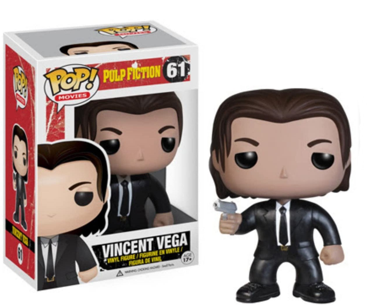 Funko Pop Pulp Fiction Vincent Vega with Disney Japan Sticker and upc on the bottom of packaging