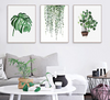 Nordic Canvas Wall Art Tropical Plants Scandinavian Poster Green Leaves Simple Canvas Painting