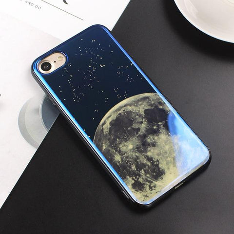 Moon & Planet Blue Phone Case Smart Cell Style 2 For iphone 6 6s