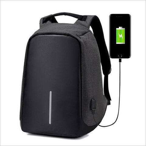 Anti-Theft Backpack with USB port Smart-Gadget Black 17.3x12.6x3.9in