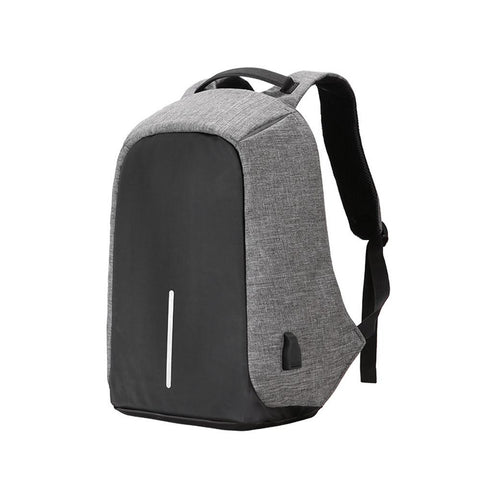 Anti-Theft Backpack with USB port Smart-Gadget grey 17.3x12.6x3.9in