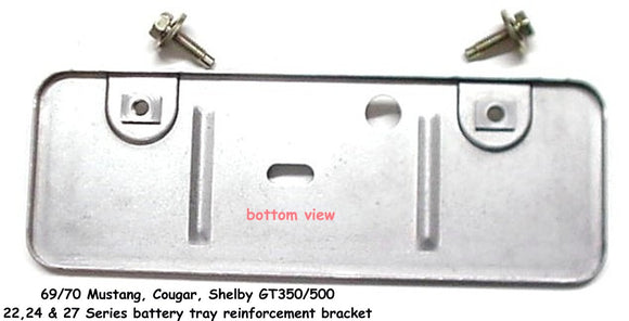 1969 1970 Mustang Shelby Battery Tray Reinforcement Bracket