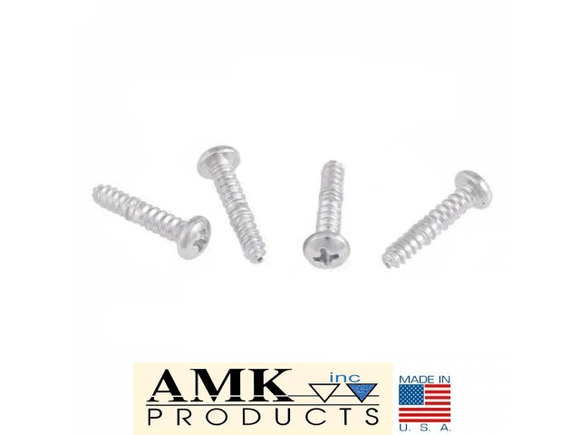 1967 1968 Mustang Parking Light Lens Screws (4) - AMK