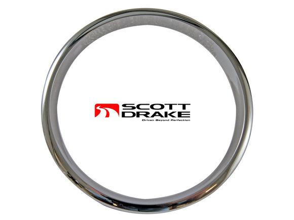 1967 Mustang Steering Wheel Horn Pad Trim Chrome - Scott Drake