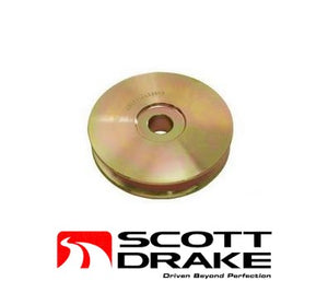 1964 1965 1966 1967 Mustang Pulley Alternator Hi-Po Yellow Steel - Scott Drake