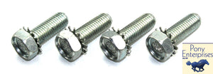 1965 1966 Mustang Front Shock Bolts (Zinc Plated SS) - Pony Enterprises