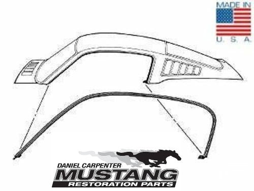 1964 1965 1966 Mustang Fastback Roof Rail Weatherstrip - Daniel Carpenter