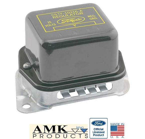 1964 Early 1965 Mustang Voltage Regulator with A/C - AMK