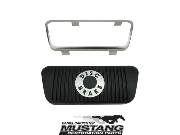 1968 1969 1970 1971 1972 1973 Mustang Disc Brake Pedal Pad & Trim (Auto) - Daniel Carpenter