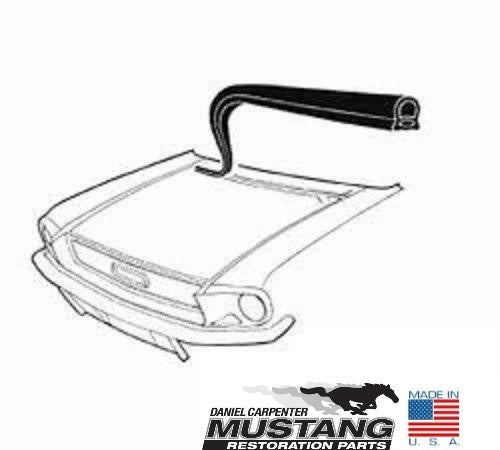 1967 1968 Mustang Hood To Cowl Weatherstrip - Daniel Carpenter