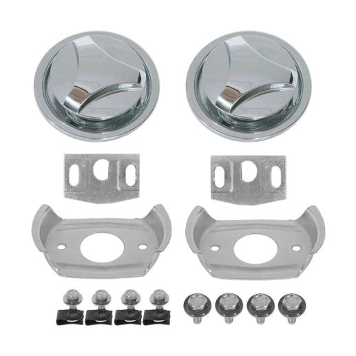1970 Mustang Hood Lock Kit Complete 18 Pieces