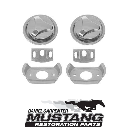 1971 1972 1973 Mustang Twist Hood Lock Kit - Daniel Carpenter