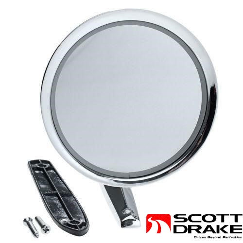 1964 1965 1966 Mustang Concourse Outside Door Mirror - Scott Drake